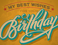 VINTAGE BIRTHDAY | Hand Lettering