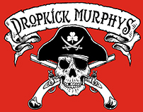Dropkick Murphys - Pirate Skull T-Shirt