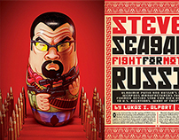 Steven Seagal nesting doll for Playboy Magazine.