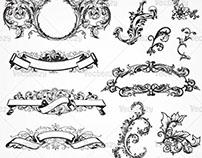 Antique Scroll Ornament Vectors