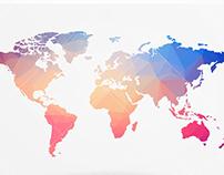Polygonal World Map Vector