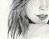 Pencil Portraits - Kate Beckinsale