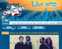 Minisitio Lollapalooza en Chile para Chilenvivo