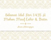 Eid Al-Fitr 1435 Card