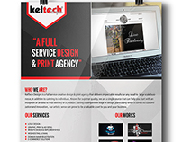 Flyer for keltech designs