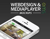 EMS - Webdesign & Mediaplayer Mockup