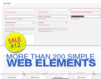 Sale#12: More than 200 Simple Web Elements