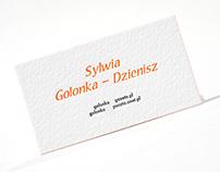 Orange letterpress.