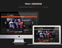 TEN SPORTS Website Design