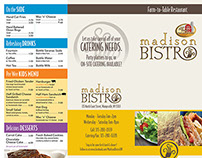 Madison Bistro Take-Out Menu