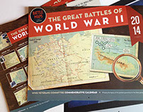 Battle Maps for WWII Calendar