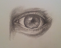 pencil art, realistic eye
