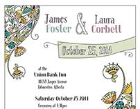 Art Deco Tea Party Wedding Invitations