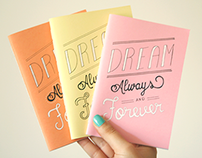 Dream Journals | Typography | Nuts for Paper