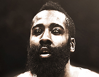 "James Harden ""Snake Eyes"" Artwork"