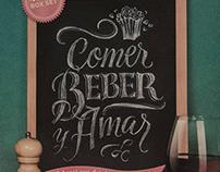 Comer Beber y Amar -  Board Lettering