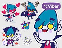 Vampire boy - Viber stickers set