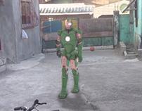 Iron man walk.