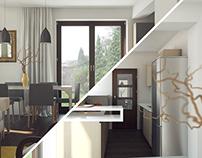 Interior - Living space/Kitchen