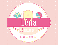 Announcement of birth: Lena