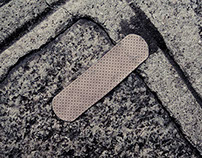Plasters on the streets of Paris