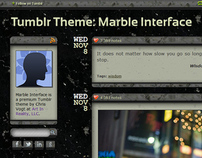 Marble Interface, Free Tumblr Theme