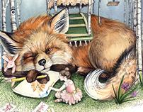 Lucia Bird's Birch Burrow - Children's Illustration