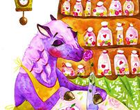 Lilac horse. Ezra Schebalsky.