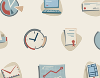 Animated Office Icon Set