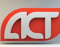 ACT WORLD TV Logo Design