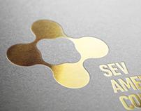 SEV American College Logo Design