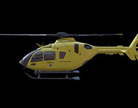 Game art: Eurocopter Ec 135, about 22k triangles all