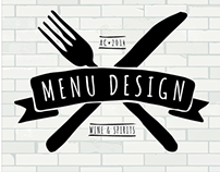Various Menu Design