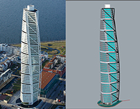 Turning Torso - Parametric Model with Grasshopper