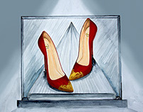 Carey J. High Heel Illustration