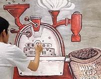 Mural at Wakecup Coffeeshop #3