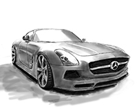 Mercedes-Benz AMG digital drawing