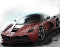 Ferrari LaFerrari digital drawing