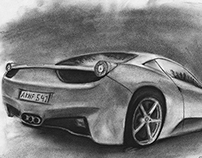 Ferrari Italia rearview