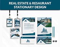 Real Estate & Restaurant Stationary Design