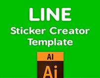 LINE Sticker Creator Template