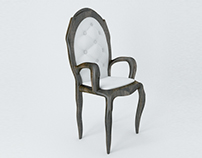 The Classic tufted armchair - 3D Model