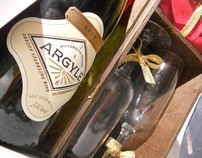 Argyle Wine Valentines Gift Set