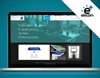 Site Elecom - Tables tactiles