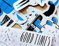 Good Times sticker pack '14