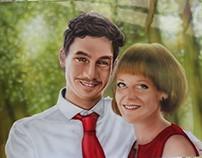 Rok&Špela - airbrush portrait