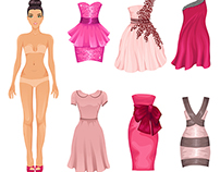 Dress up paper dolls
