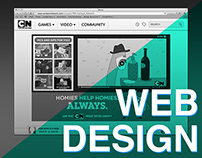 Desktop Web Design Work