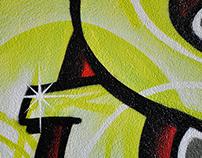 Graffiti wall in kidsroom 1