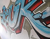 Graffiti wall in kidsroom 2